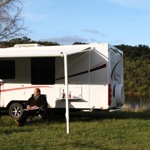 Two People in front Jayco Sterling