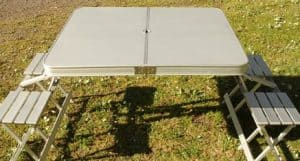Outdoor Camping Table + Seats (4 person)